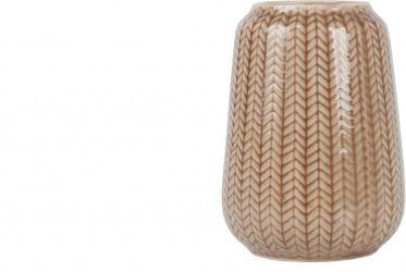 Vase - Strick - Small - Keramik - Caramelbraun - Present Time